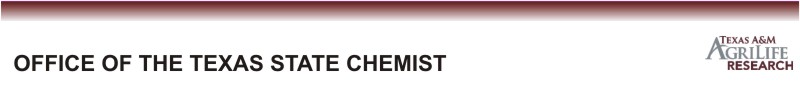 Office of the Texas State Chemist website
